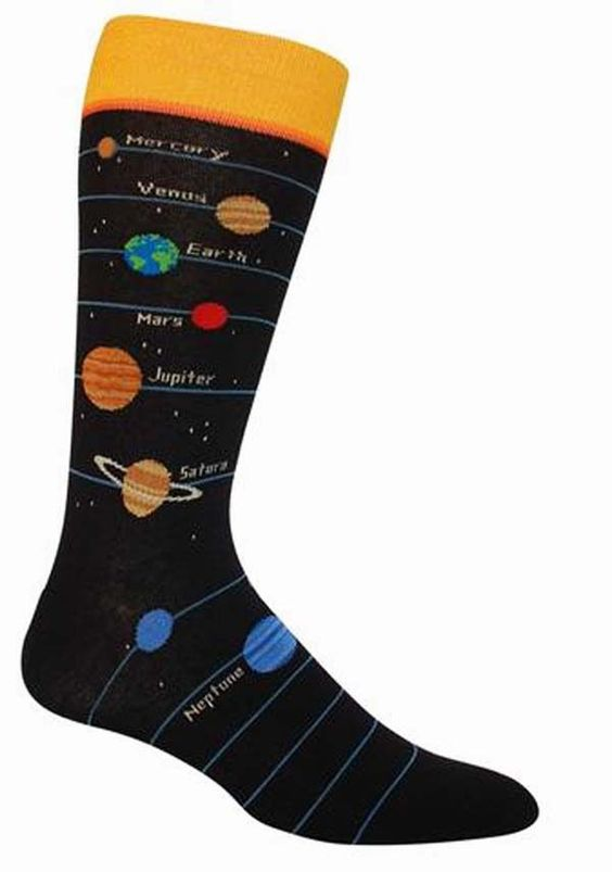 Men's-Planets Socks - Novelty Socks, Mens, Womens, Kids