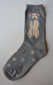 Women's Puppy Dog With Leash Socks - Novelty Socks, Mens, Womens, Kids