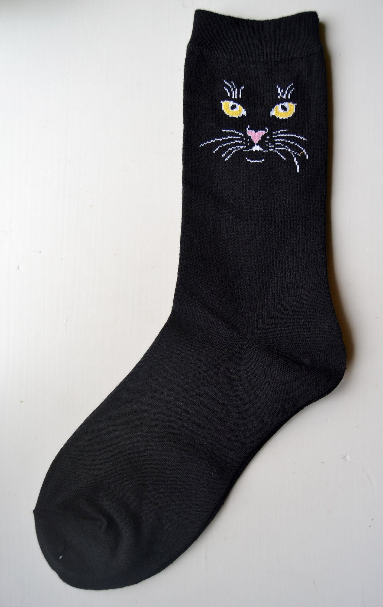 Women's Black Cat Socks - Novelty Socks, Mens, Womens, Kids