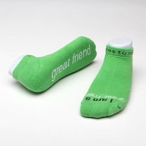 "Notes to Self Socks ""I Am A Great Friend"" - Multiple Sizes - Novelty Socks, Mens, Womens, Kids"