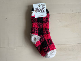 Kid's Toddler Fuzzy Grip Socks- Moose Creek
