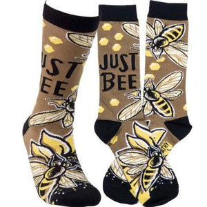 """Just Bee"" Socks - One Size - Novelty Socks, Mens, Womens, Kids"