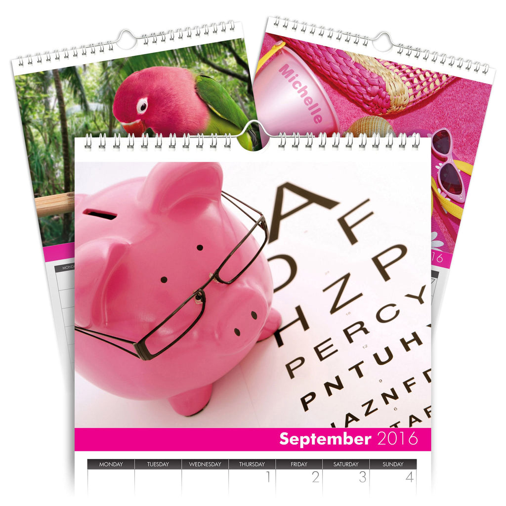 All Things Pink Personalised A4 Calendar