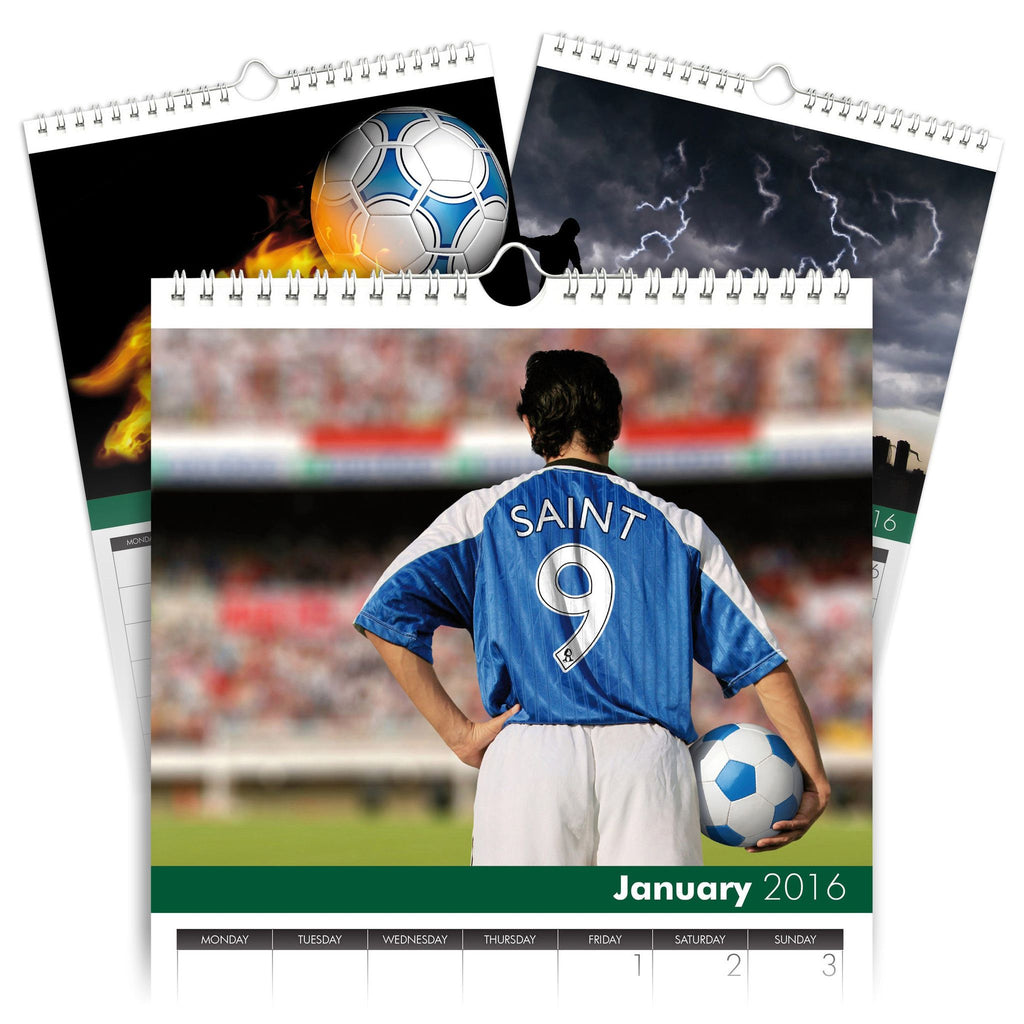 Football Personalised A5 Calendar
