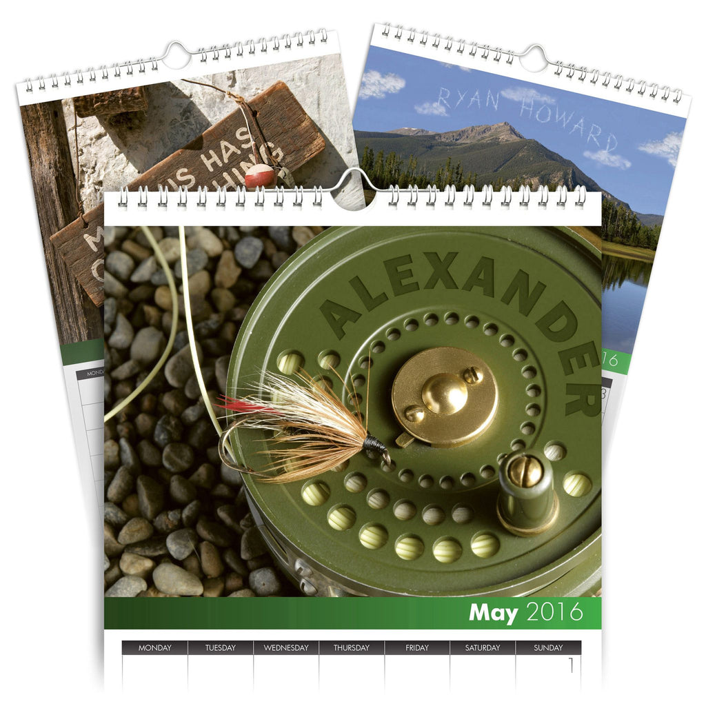 Fly Fishing Personalised A3 Calendar