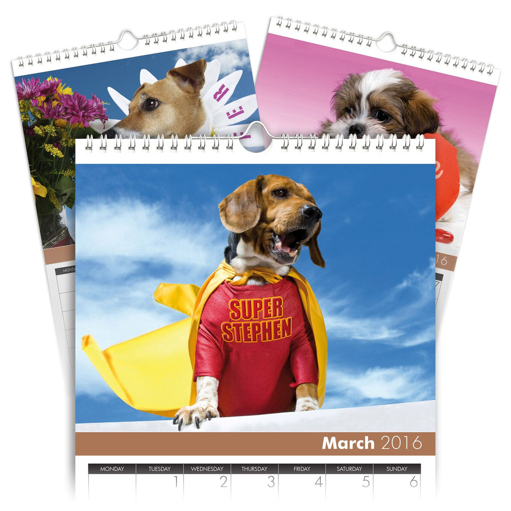 Dogs Personalised A3 Calendar
