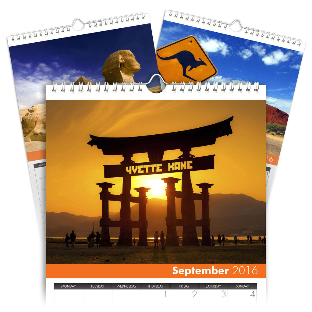 Around the World Personalised A4 Calendar
