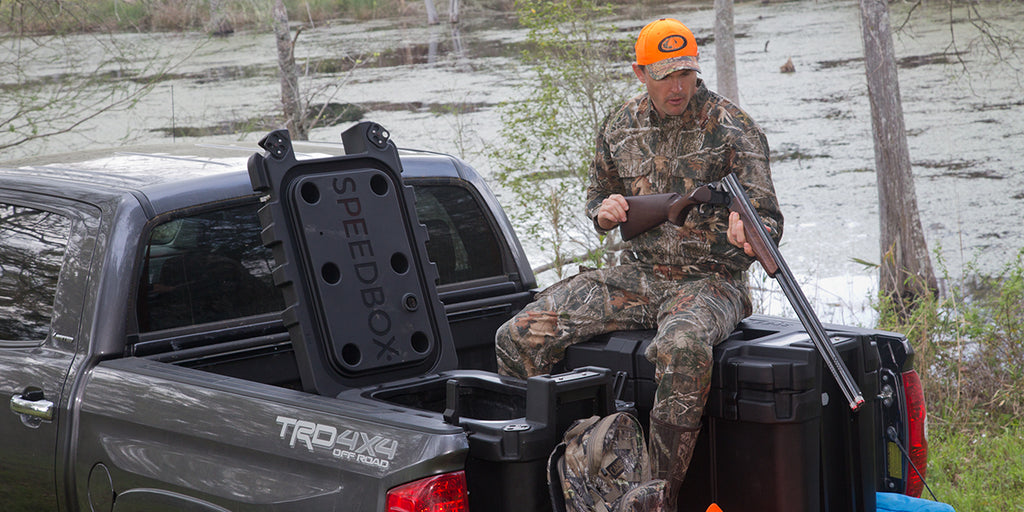 Use SPEEDBOX to keep all of your hunting gear safe, dry and in one place. (pictured: Endurance-40)