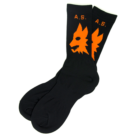 AS WOLVES CREW SOCK - BLACK