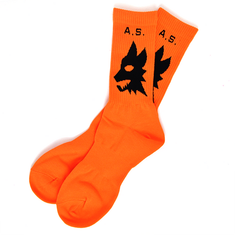 AS WOLVES CREW SOCK - ORANGE