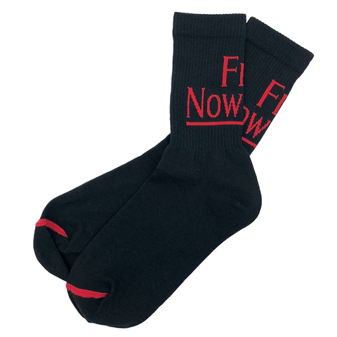 FLY NOWHERE CREW SOCK - BLACK