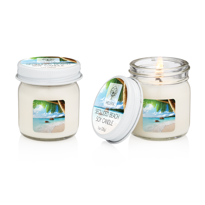 Secluded Beach Mini Cotton Wick Hand-Poured Soy Candle