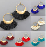 Gold Fringe Earrings in Several Colors-Sandi's Styles