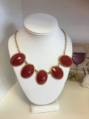 Rust Burgundy Necklace-Sandi's Styles