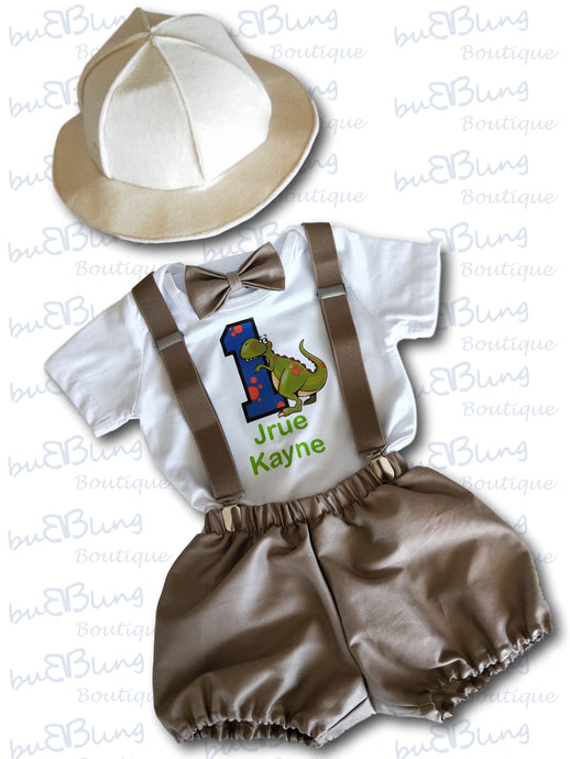 Dinosaur Safari 1st Birthday outfit now available!