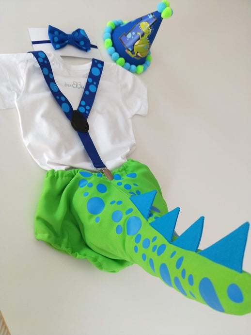 Dinosaur Tail 1st Birthday Outfit - Our latest creation