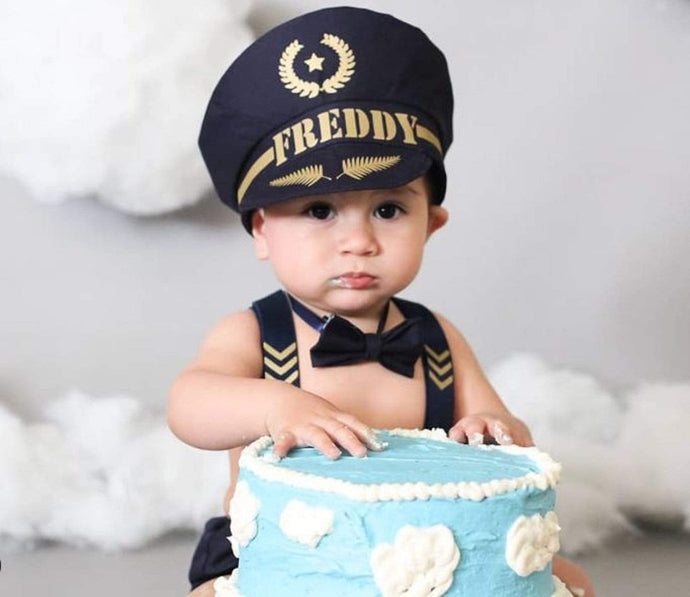 Personalized Pilot Cake Smash Outfit Boy - Gorgeous little guy in one of our creations
