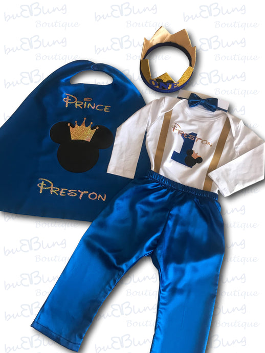 Winter Mickey Prince 1st Birthday Outfit now available