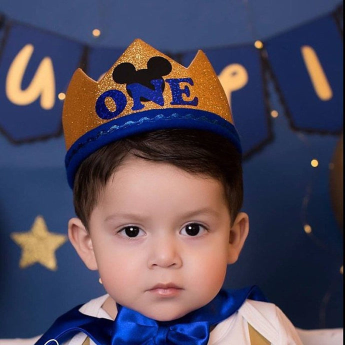 First Birthday Mickey Crown for baby boys