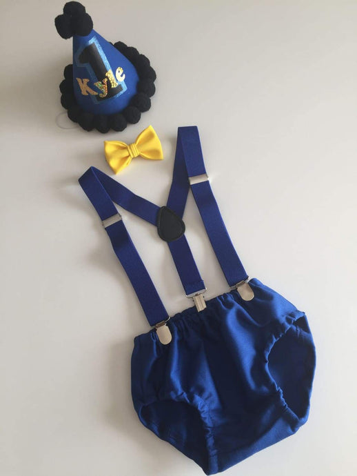 Royal Blue Boys Cake Smash Outfit now available