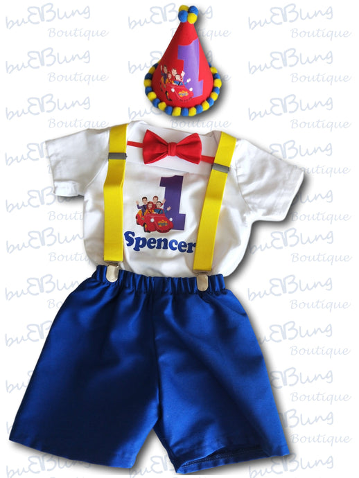 The Wiggles theme now available in 1st and 2nd Birthday Boy Outfits