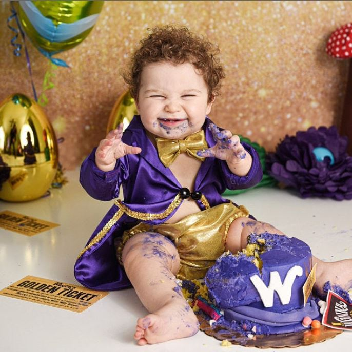 Willy Wonka Cake Smash Outfit / 1st Birthday Outfit