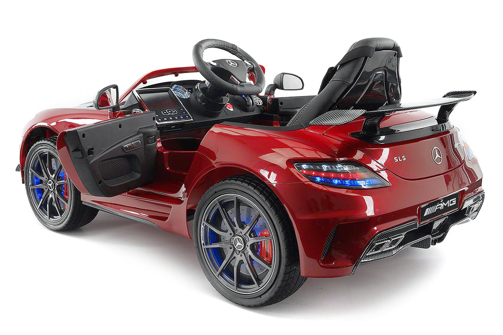 2018 Mercedes SLS Carbon Red Ride on Kids Electric car Side View - Left