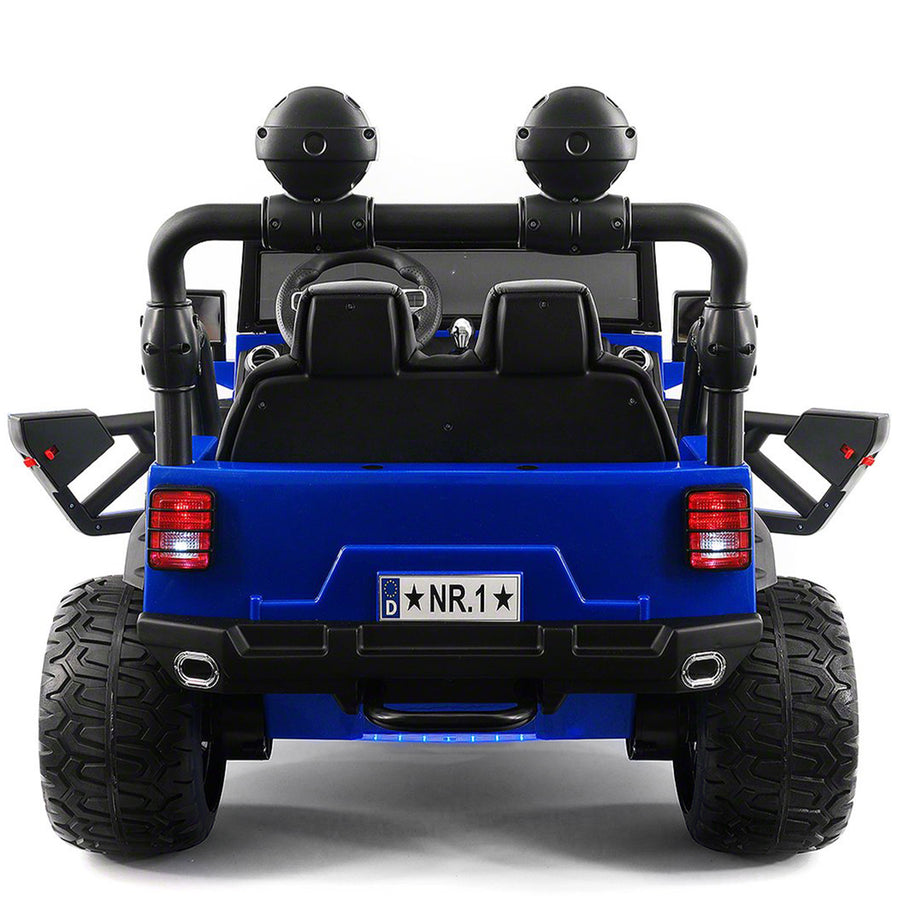 2019 Kids Explorer Ride On Truck 12V Two Seater Ride On Car - Blue - Jay Goodys