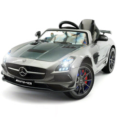 2019 Mercedes SLS AMG 12V Motorized Ride on Toy Car with Built in LCD TV, LED Lights, Leather Seat - Jay Goodys