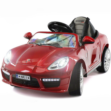 2019 Kids Sports 12V Ride On Car Battery Powered W/ Dining Table, Leather Seat, LED Lights - Red - Jay Goodys