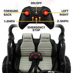 2020 Two (2) Seater Police Car Ride On Kids Truck w/ Remote, Large 12V Battery, Rubber Tires - Jay Goodys