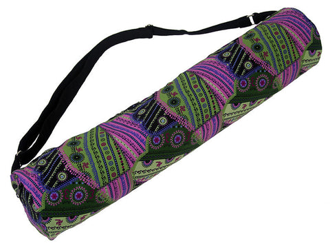 Om Purple Sage Yoga Mat Bag - Global Groove (Y)