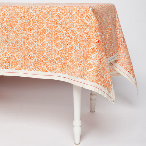 Copper Illusion Cotton Tablecloth 90 by 60 - Sustainable Threads (L)