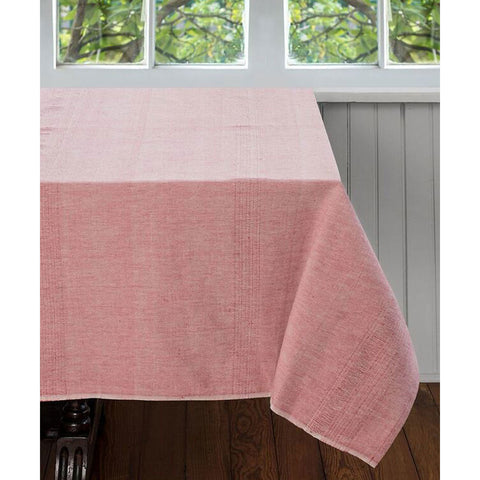 Pale Coral Cotton Tablecloth 60 by 60 - Sustainable Threads (L)