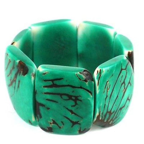 Classic Tagua Bracelet in Jade Handmade and Fair Trade