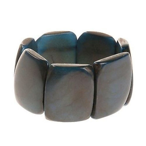 Polished Tagua Nut Bracelet in Slate Handmade and Fair Trade