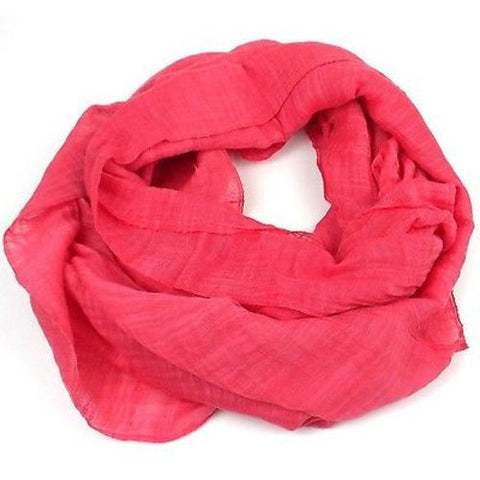 Lucille' Infinity Scarf in Coral Handmade and Fair Trade