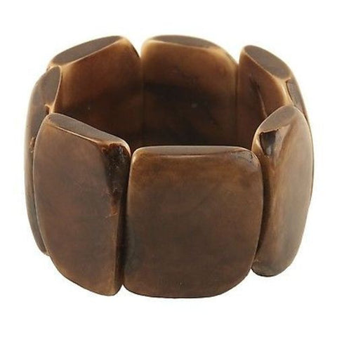 Polished Tagua Nut Bracelet in Chocolate Handmade and Fair Trade