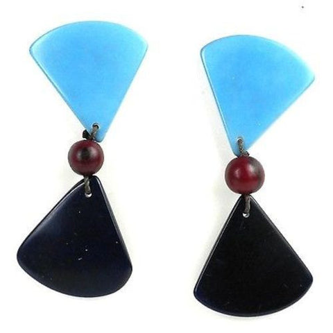 Tagua Hourglass Earrings - Quarry Handmade and Fair Trade