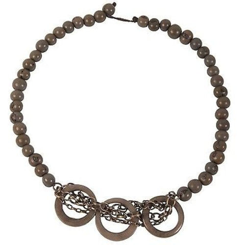 Circle Chain Choker in Gray Handmade and Fair Trade