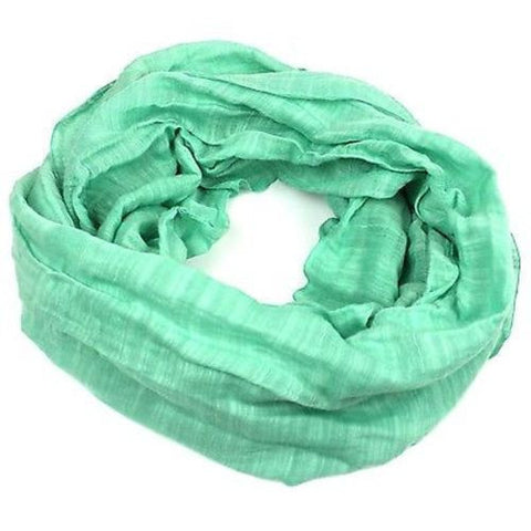 Lucille' Infinity Scarf in Sea Green Handmade and Fair Trade