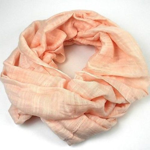 Lucille' Infinity Scarf in Melon Handmade and Fair Trade