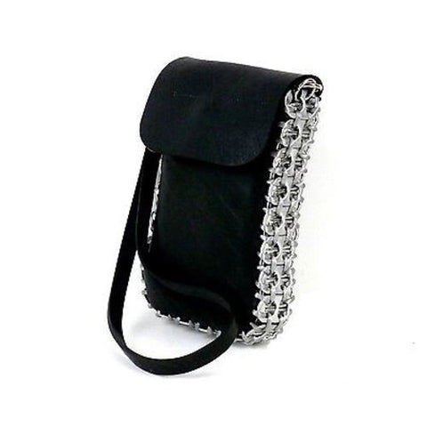 Tire and Poptop Smartphone Bag - Silver Handmade and Fair Trade