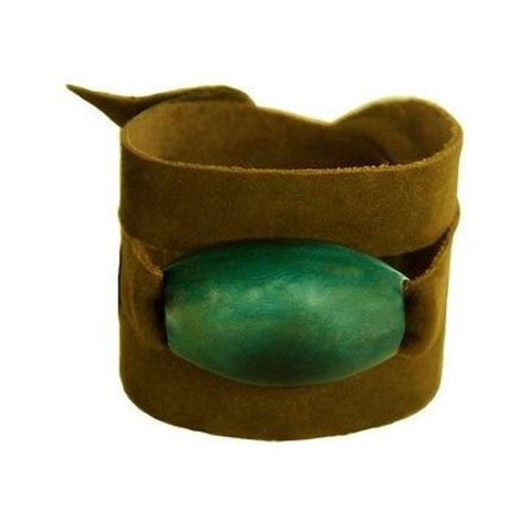 Tagua and Leather Wrap Bracelet - Jade Handmade and Fair Trade
