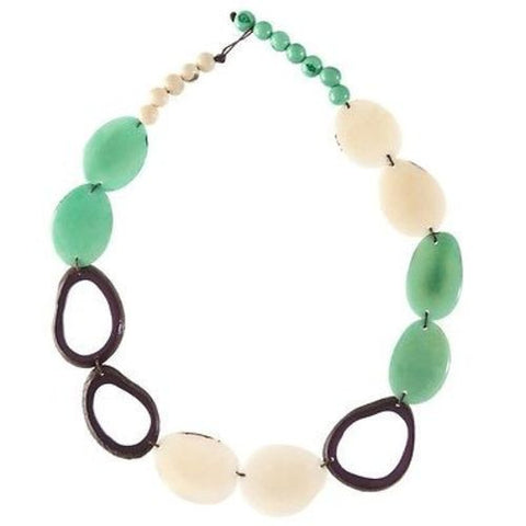 Ventana Tagua Necklace in Seafoam Handmade and Fair Trade