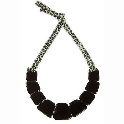 Tagua Trapezoid Necklace in Onyx Handmade and Fair Trade