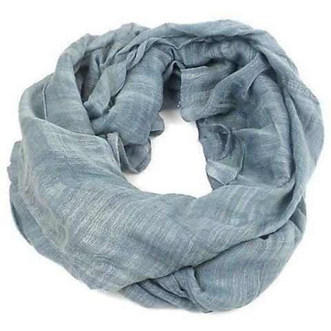Lucille' Infinity Scarf in Slate Handmade and Fair Trade