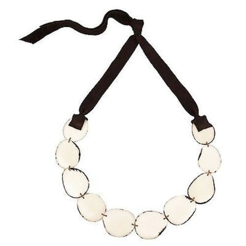 Flora Tagua Nut Necklace - Cream Handmade and Fair Trade
