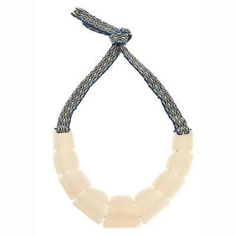 Tagua Trapezoid Necklace in Cream Handmade and Fair Trade