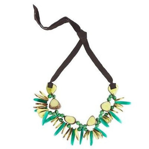 Rhumba Necklace in Lime Handmade and Fair Trade